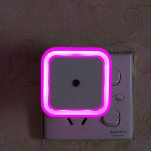 Image 4 - الجدار ضوء المصباح الليلي الاستشعار التحكم التعريفي توفير الطاقة النوم ضوء الليل 110 فولت 220 فولت للأطفال غرفة نوم الممرات
