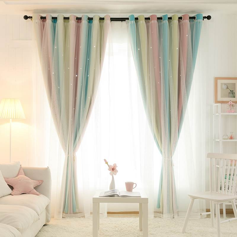 Modern Window Curtain Colorful Window Drapes High Shading Drapes Soft Window Curtain with Screening Living Room Bedroom Decor(China)