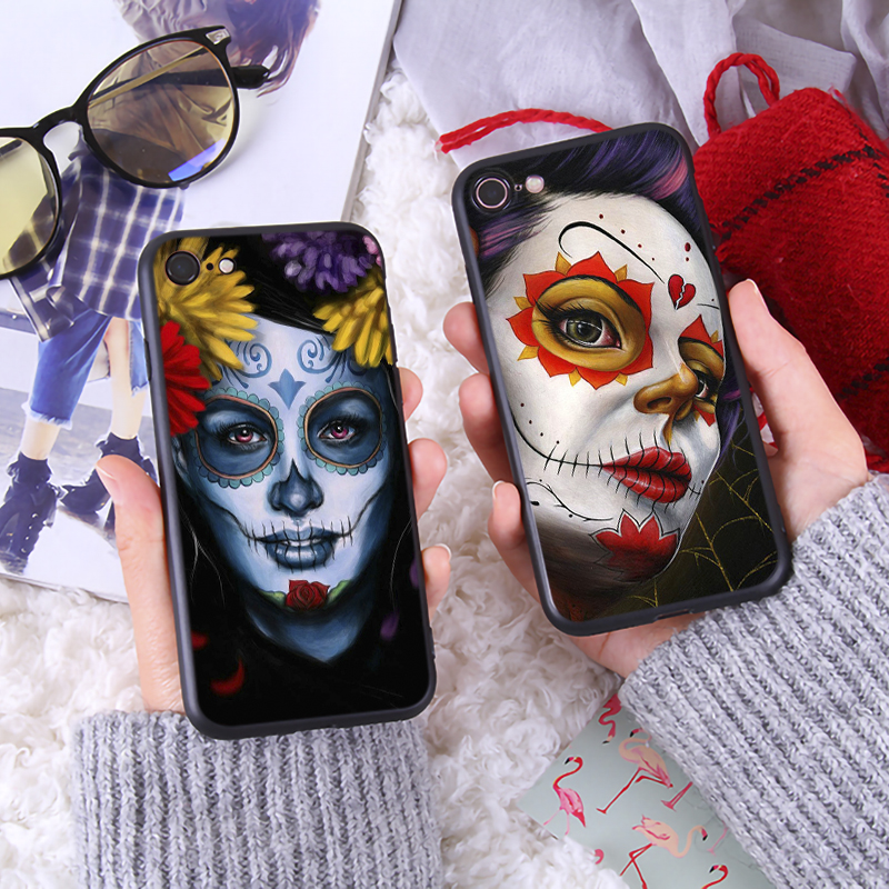 Black Girl Art Unique Phone Case for iPhone 6 6s 7 8 Plus X XR XS Max Soft Luxury Silicone Phone Cover Tpu Phone Case in Fitted Cases from Cellphones Telecommunications