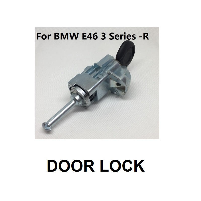 For BMW E46 3Series 323i 328i 323Ci 328C Front Right Door Lock Cylinder Keys 2001-2006 image