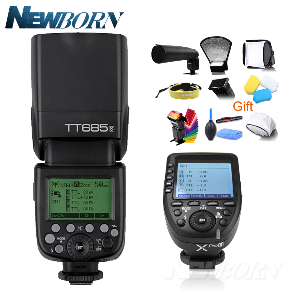 Godox TTL HSS 1 TT685S Flash Da Câmera sem fio 2.4G/8000 s Kit Transmissor GN60 + Xpro-S para Sony a77II, a7RII, a7R, a58, a99, etc