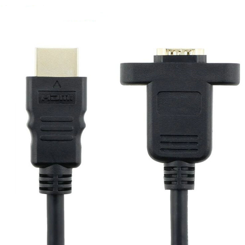 Objective Great-q Hdmi 14+1 Male To Hdmi Female Extension Cable With Screw Ear Hole Computer & Office