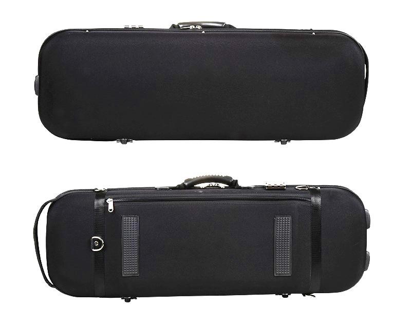 Πολύχρωμο ισχυρό EVA πλήρες μέγεθος 4/4 επιμήκους σχήματος θήκη βιολί ανεξαρτησία μουσική τσάντα μαύρο