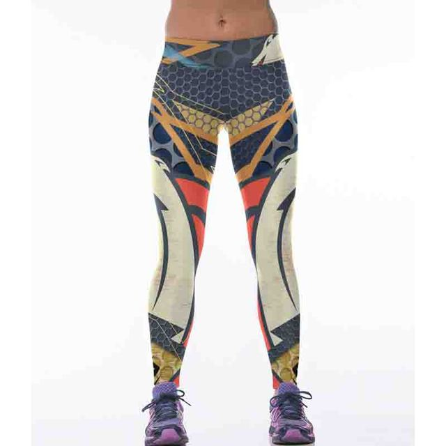 Hot Sale New Sexy Quick-drying Women Sporting Leggings Fitness High Elastic Slim 3D Printing Female Fashion Trousers