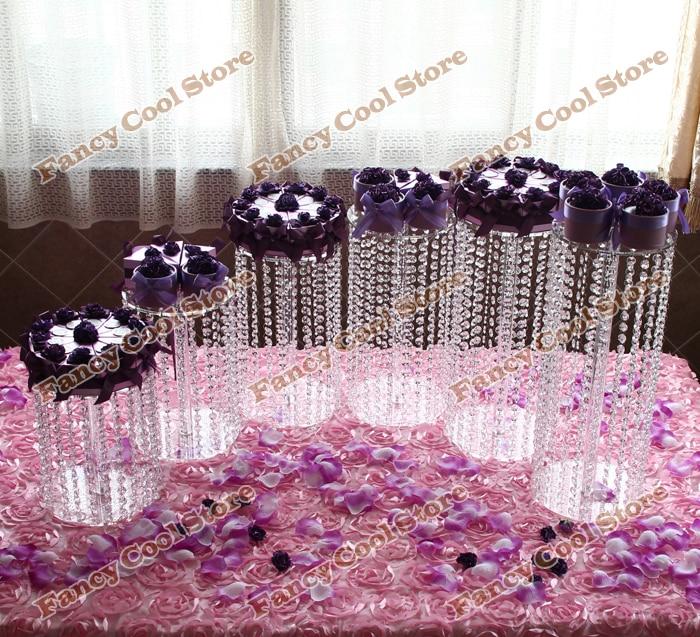6 buc / set Wdding Tort de Cristal Stand Cercul Acrilic Rotund - Bucătărie, sală de mese și bar