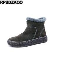 Роскошные зимние ботинки из овечьей кожи, зимняя обувь, короткие мужские ботинки без шнуровки, повседневная обувь на натуральном меху, нату