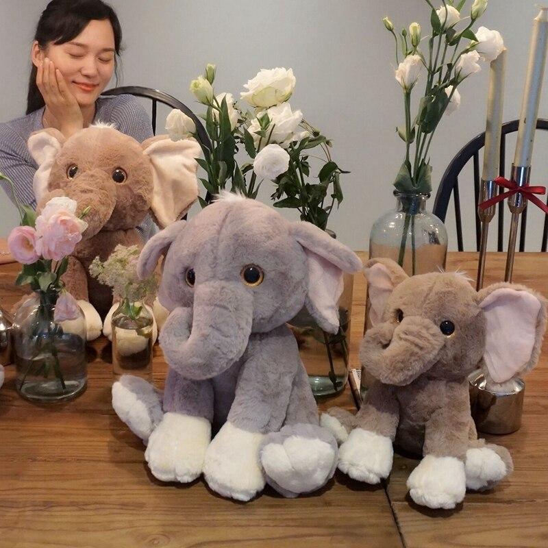 Fashion Elephant Plush Doll Baby Stuffed Elephant Plush Pillow Kids Toy Children Room Bed Decoration 25/35cm