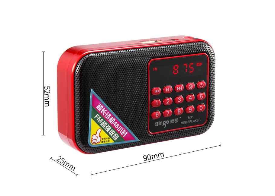 Pocket Radio FM Radio Mini Draagbare Oplaadbare Radio Ontvanger Speaker Ondersteuning USB TF Card Muziek MP3 Player Gift voor Oude goede
