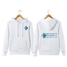 Grey Sloan Memorial Hospital Derek Shepherd Meredith Grey Grey's Moletom Com Capuz Do Hoodie Grey's Anatomy Pullover Moletom Com Capuz Sweatershirt(China)