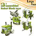 4 EN 1 Auto-Montado Bloques de Construcción Electrónica Robot juguetes Juegos de Mesa modelo de Ciencia Y Educación Ladrillo Constructor kit juguetes
