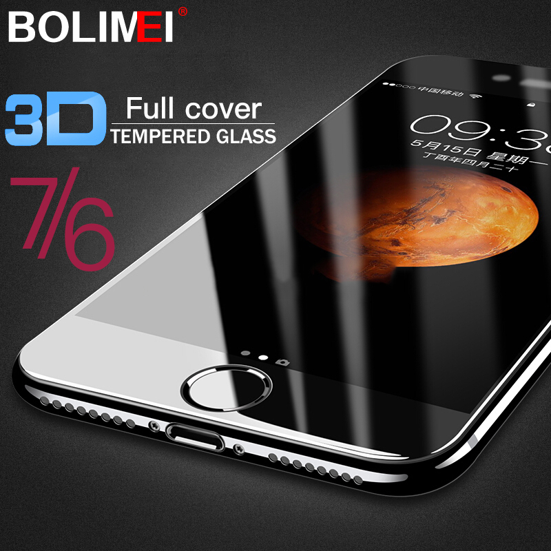 Protective Glass on the For iPhone 6 6S Plus 7 8 Tempered Screen Protector 3D Curved Edge Glass For iPhone 8 7 Plus X Film