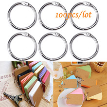 100 PCS 25mm Inner Diameter Metal Loose Leaf Ring Binder Ring Clip Album Scrapbook Craft Photo Split Rings Tool