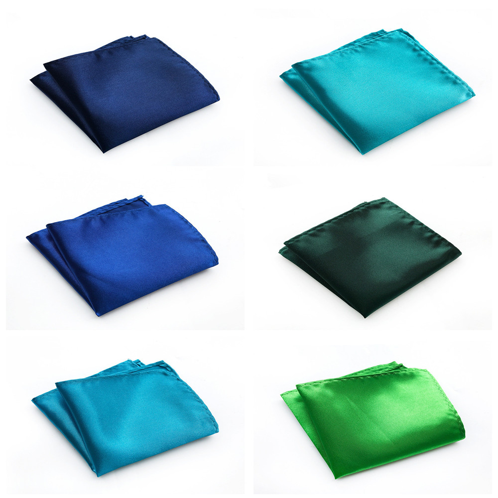 Business Men's High Quality Polyester Pocket Towel Multi-color Optional Design Simple Solid Color Handkerchief Pocket Towel