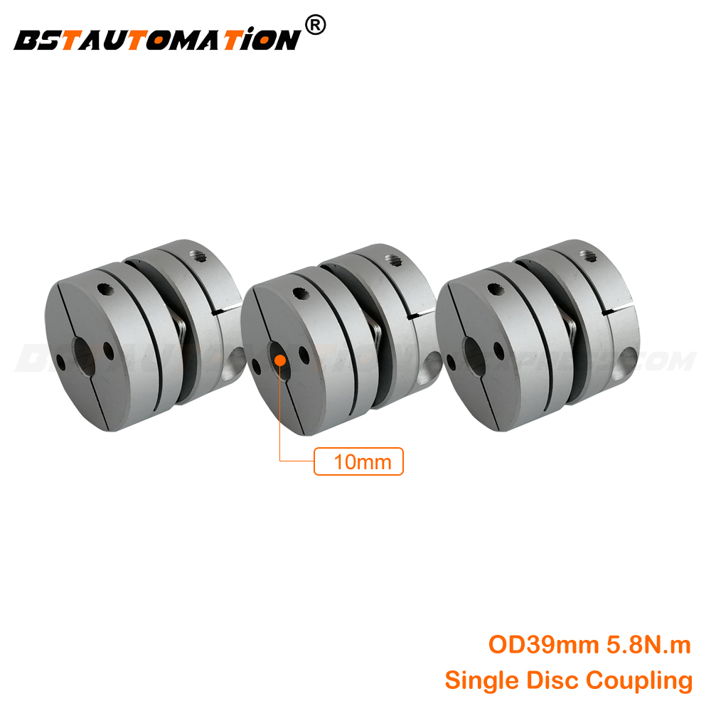 Flexible Disk Coupling 3pcs/lot 10mm to 8mm 10mm 12mm 14mm 15mm 16mm 17mm 18mm 19mm CNC Motor shaft single disc coupling image