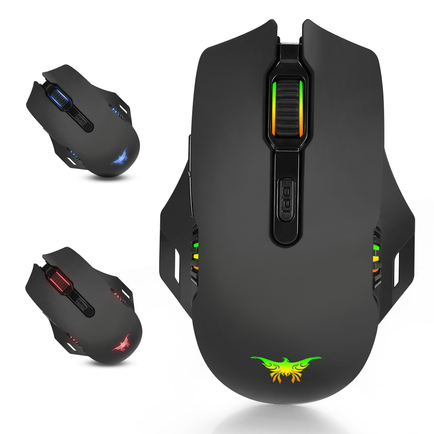 2.4G Wireless Gaming Mouse Optical Mice Adjustable DPI Levels 6 Buttons Chargeable for Computer PC Gamer Mice Support PC and Mac