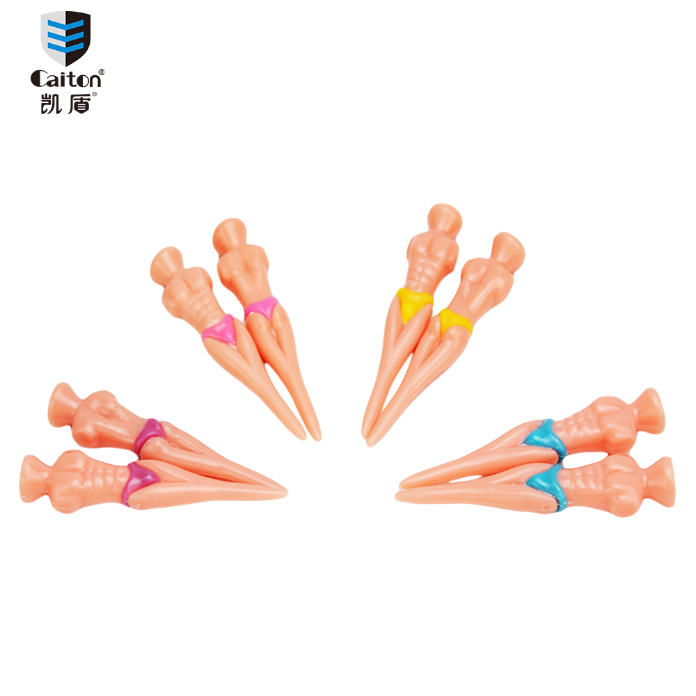 Caiton 6PCS/pack New Originality Plastic cement Golf Tees Man Swimwear model ball stud