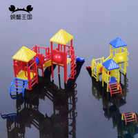 HO N Scale 1:87 1:150 Childrens Playground Park with Slides Set for model train layout