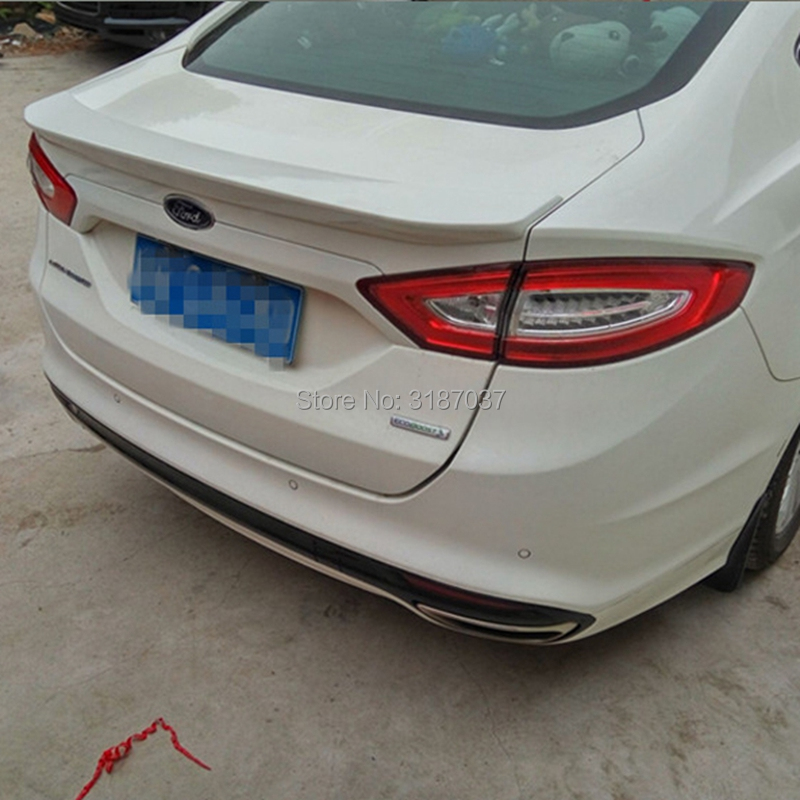 For Ford Mondeo MK5 Spoiler 2013 2016 ABS Plastic Unpainted Color Rear Roof Spoiler Wing Trunk Lip Boot Cover Car Styling