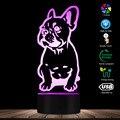 3D Wirkung Französisch Bulldog Form Desigend Visuelle Lampe 3D Optische Illusion Licht Pet Welpen Hund Schlafzimmer Nacht Licht Decor Tabelle lampe-in Neuheit Beleuchtung aus Licht & Beleuchtung bei