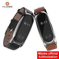 Mi Wristband Leather For Xiaomi Mi Band 2 Screwless Wrist Strap Bracelet Smart Band Replace For