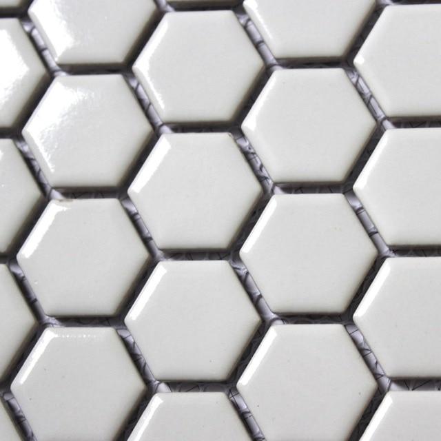 Us 1758 11 Sztuk Moda Białe Sześciokątne Mozaika Ceramiczna Kuchnia Backsplash łazienka Tapety Prysznic ścienny Tle ściany Płytki Podłogowe Chiny