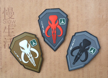 PVC Badge Bounty Hunter Badges For Clothing Backpack Caps Fabric Armband Stickers Military Tactical Patch Patches Badges embroidery badge bounty hunter boba fett bantha skull new embroideried badges military tactical armband patch patches for jacket