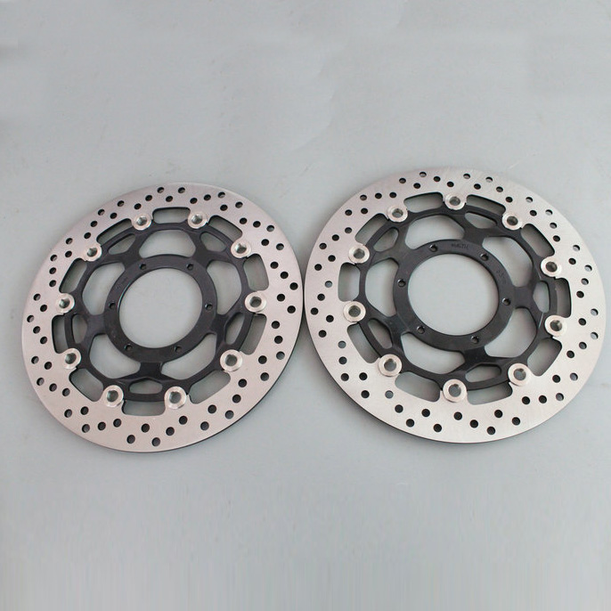 2 pieces motorcycle Front Brake Disc Rotor for Honda CB1300 CBR600RR 2003 2004 2005 2006 2007 2008 2009 2010 2011 2012 2013 2014 motorcycle part front rear brake disc rotor for yamaha yzf r6 2003 2004 2005 yzfr6 03 04 05 black color