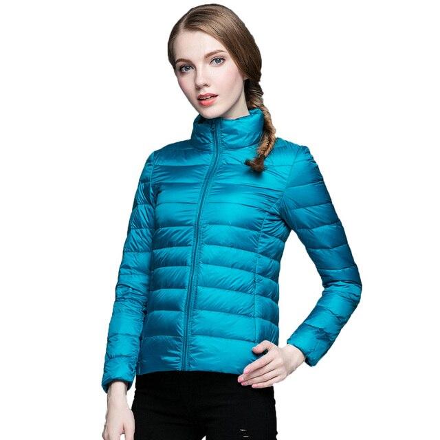 2016 90% Белая Утка Вниз Куртка Женщин Ultra Light Пальто Теплый зимняя Куртка Большой Размер 13 Цвета Плюс Размер Вниз Парки S-3XL