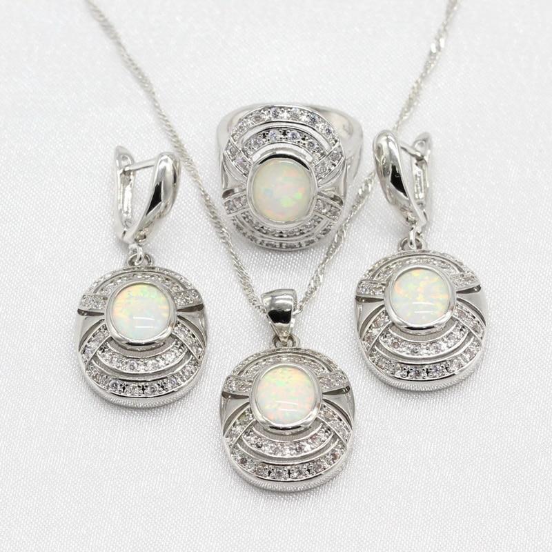 b8801edae33b Thali pulseras de ley. Comprar 925 joyería de plata esterlina establece  Australia blanco ópalo de fuego para las mujeres pulsera collar pendiente  pendientes ...