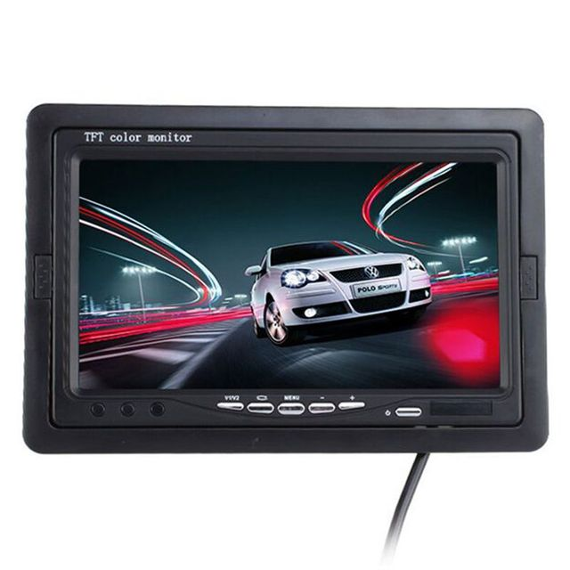 """7 inch TFT LCD Digital Color Monitor 7"""" Car Headrest Monitor Screen Car Rear View Monitor Kit For DVD VCD Backup Reverse Camera"""