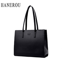 HANEROU Famous Designer Fashion Brand Bags Women Casual Tote Large Capacity Bucket Handbags Shopping Bag Shoulder Bags Bolsas цена и фото