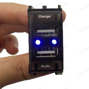 Разъем интерфейса USB 5 в 2,1 а для M/itsubishi L/ancer O/utlander P/ajero A/SX, автомобильное зарядное устройство