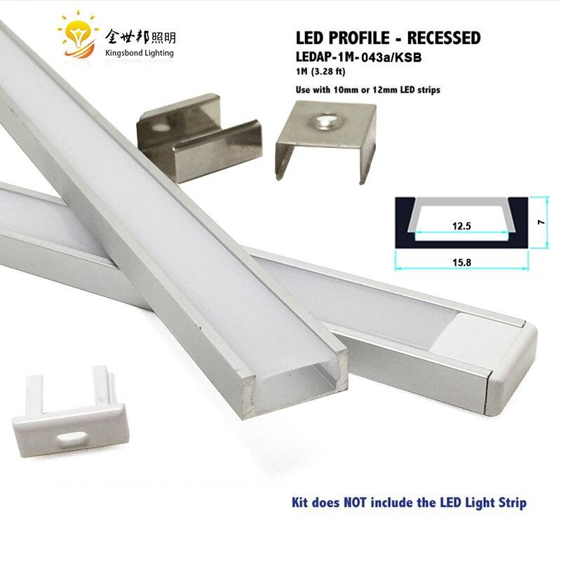 10pcs1 metr u hliníkový profil led pouzdro pro led pruh světlo led bar bar šířka 10mm-12mm hliníkový slot