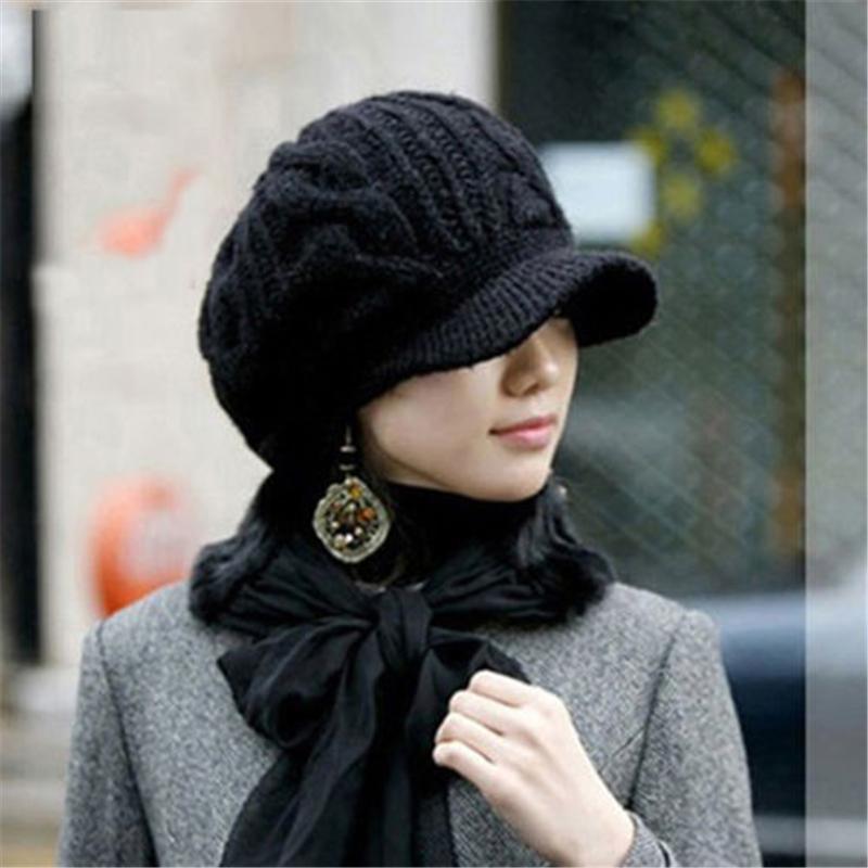 59c615248 Faroonee Winter Beanies Knit Women's Hat Winter Hats For Women Ladies  Beanie Girls Skullies Caps Bonnet Femme Snapback Wool Warm