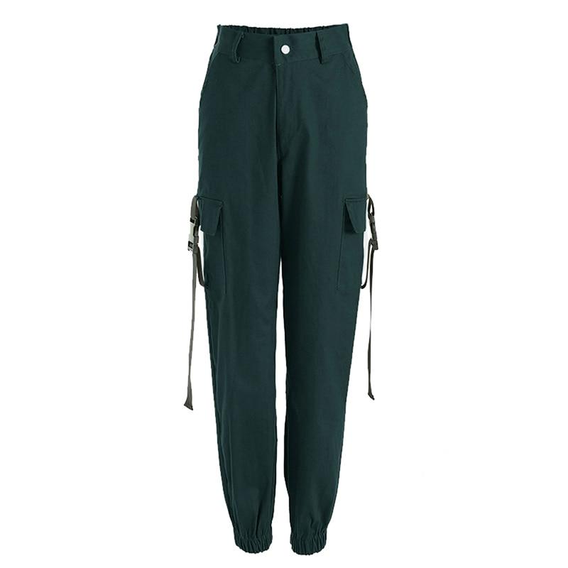 ADISPUTENT Streetwear Cargo Pants Women Casual Joggers Black High Waist Loose Female Trousers Korean Style Ladies Pants Capri 18