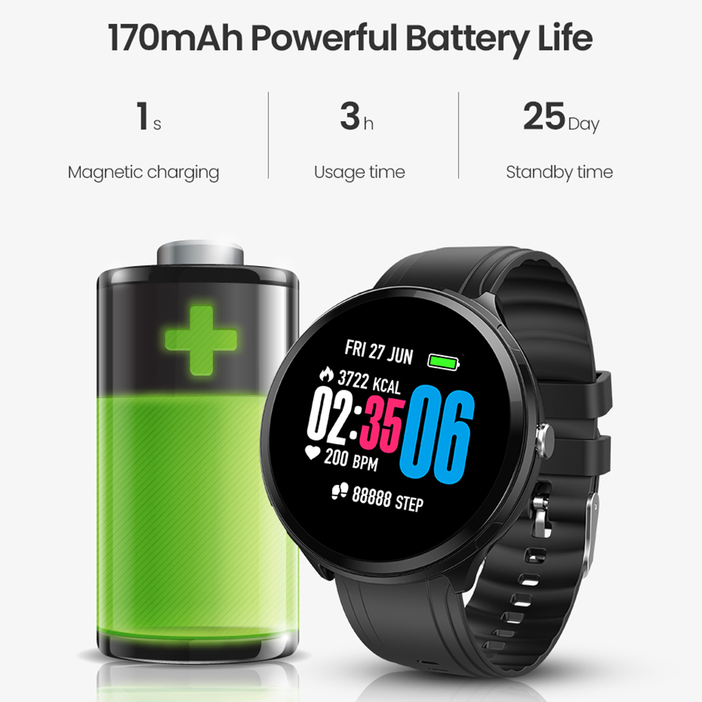 Image 5 - Virtoba 1.3'' Full Touch Screen Men Smart Watch Toughened Glass Multi Sport Modes Blood Oxygen Smartwatches PK V12 bracelet-in Smart Watches from Consumer Electronics