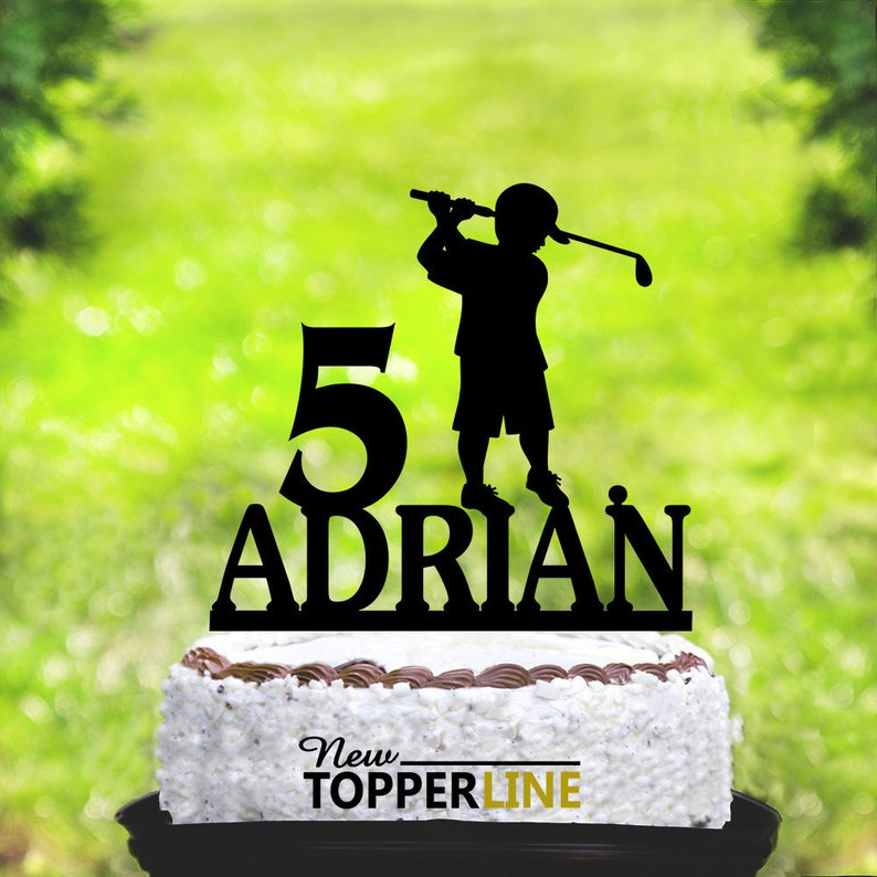 Magnificent Name Cake Topper Customizable Golf Cake Topper Little Boys Funny Birthday Cards Online Kookostrdamsfinfo