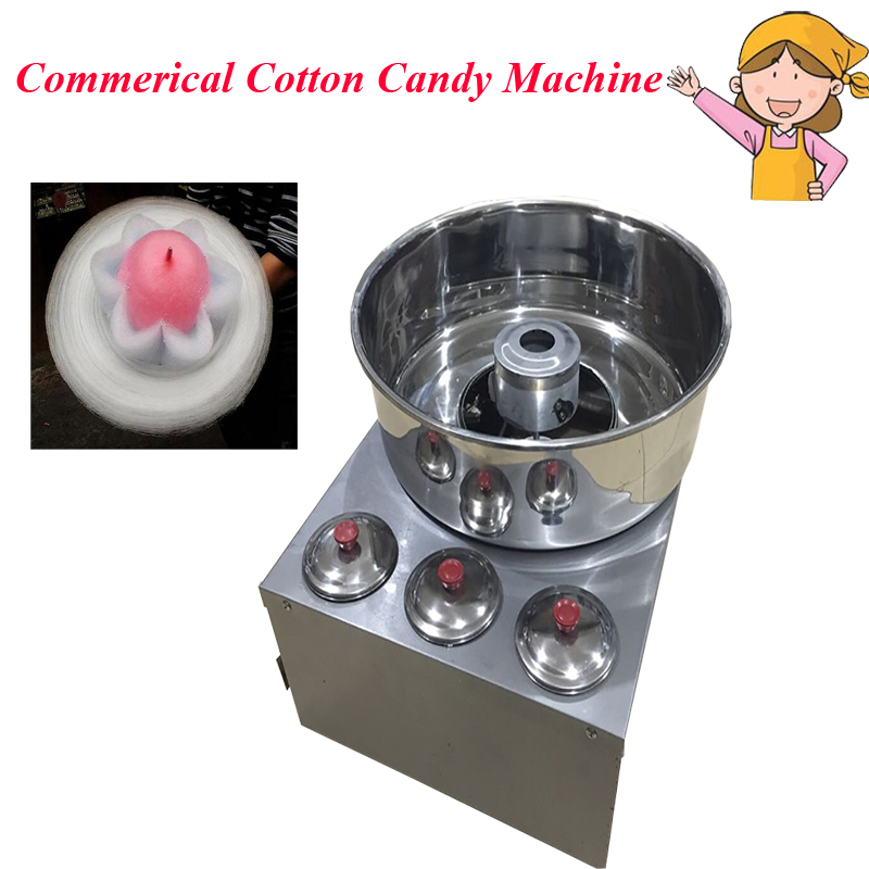 New Luxury Cotton Candy Machine Factory Direct Selling Fancy Brushed/ Electric Gas Cotton Candy Machine for Commercial Use fancy pants candy corn