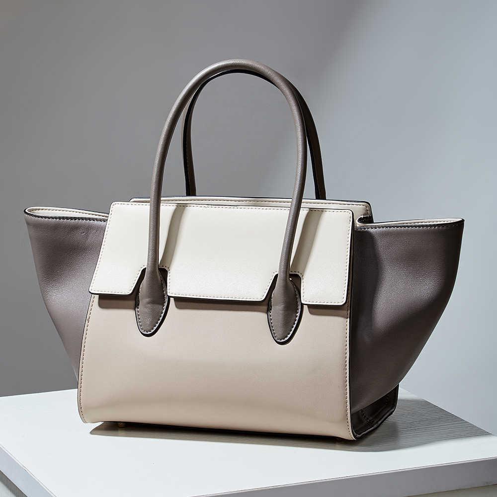 Qiwang clássico das mulheres da marca de luxo real couro sacos de couro genuíno trapézio bolsas famosa bolsa elegante reino unido design da marca