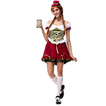 Adult Sexy Irish Beer Garden Girl  Steampunk Halloween Cosplay Costume