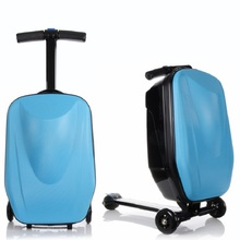 Горячая Мода 21 дюйм студенческий скутер чемодан мальчик крутой тележки Чехол 3D экструзионный багаж для деловых поездок детский пансион