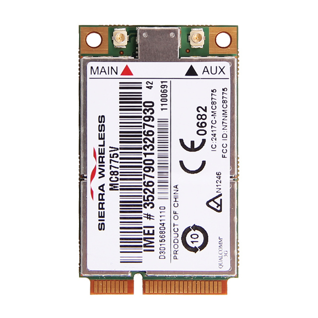 New Unlocked Sierra MC8775V Sem Fio 3G WWAN Mini PCI-E Card UMTS HSPA HSDPA BORDA GSM GPRS Módulo para Notebook Laptop Tablet
