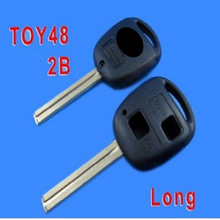 Good Quality For Toyota Remote Key Shell 2 button TOY48(Long) with LOGO 10PCS/LOT Free shipping