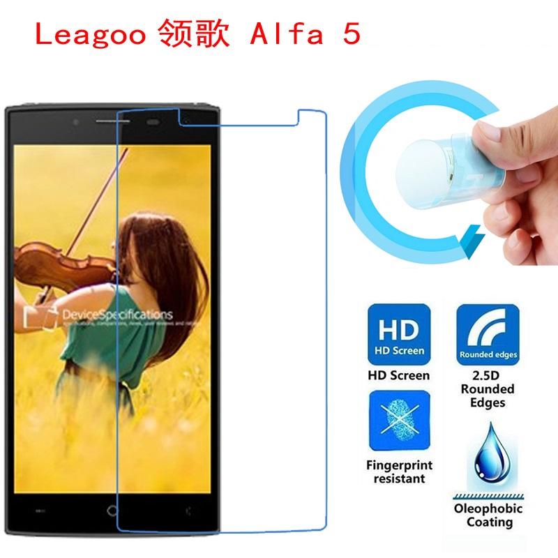 Leagoo Alfa 5 Screen Film, 2.5D Ultra-Thin HD Clear Soft Pet Screen Protector Film for Leagoo Alfa 5