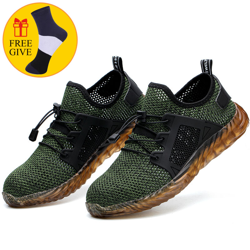 DAOKFPO 2019 Men Steel Toe Work Safety Shoes Lightweight Breathable Reflective Casual Sneaker Prevent piercing Protective boots-in Work & Safety Boots from Shoes on Aliexpress.com | Alibaba Group
