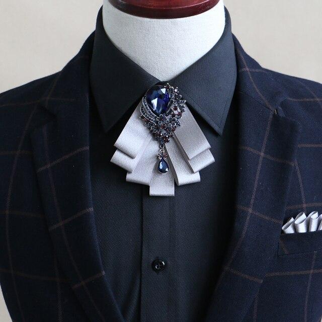 Новый Бесплатная Доставка моды случайные мужские мужской Европейский стиль свадебного жених дружки галстук платье воротник Британский бизнес-женщины