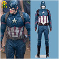 Civil War Captain America 3 Cosplay Costume Steve Rogers  Full Outfit costumes for Halloween Party MZX-136-09