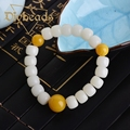 2016 New Charm Pu Tizi With Beeswax Bracelet Natural Stone Lap Bracelets Jewelry Charm Beads Gifts Diybeads