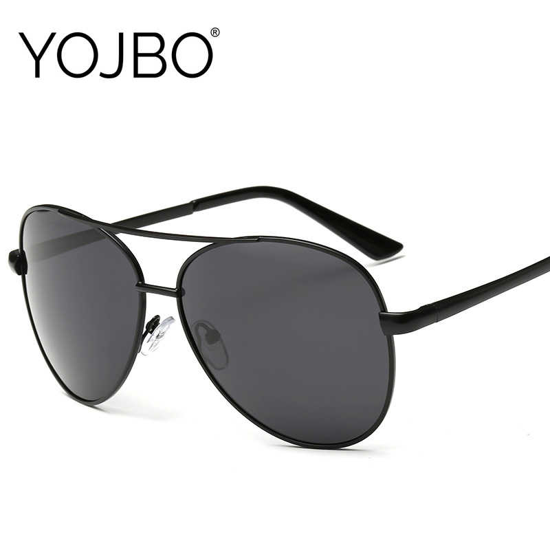 YOJBO Polarized Sunglasses for Men 2019 Women Black UV400 Luxury Brand Designer Driving Oversized Sun Glasses Pilot Male Glass