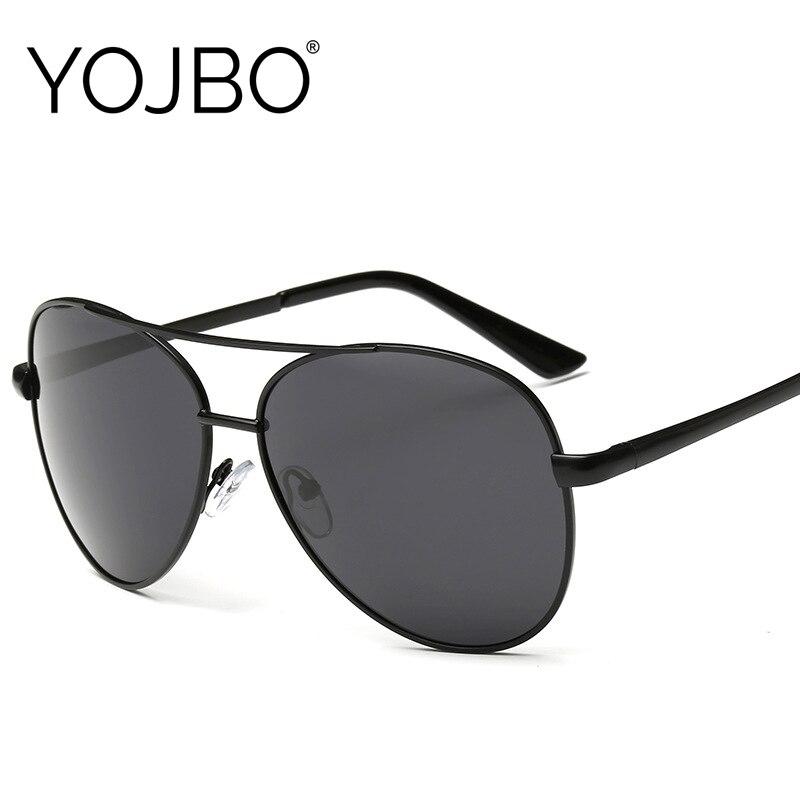 YOJBO gafas de visión nocturna gafas de sol polarizadas para hombre 2019 negro de las mujeres UV400 de lujo de marca de diseñador de conducción de gafas de sol